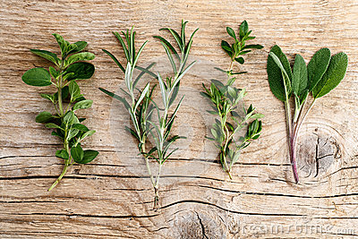 Assorted fresh Herbs