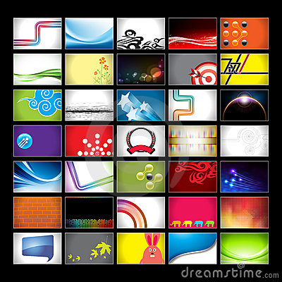 Assorted Horizontal Business Card Backgrounds