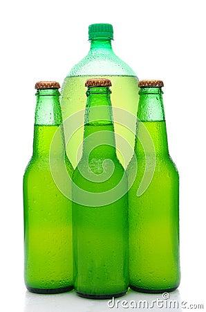 Assorted Lemon Lime Soda Bottles