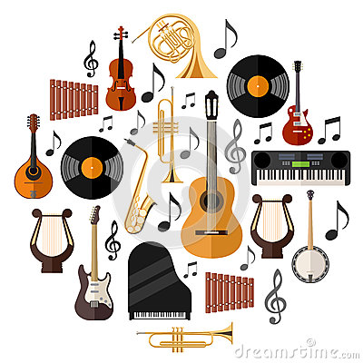 Free Assorted Musical Instruments Stock Photography - 51737722