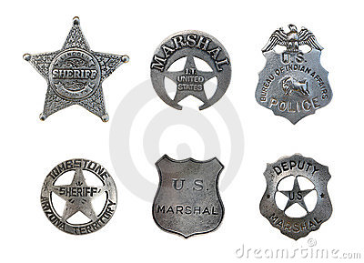 Assorted Police and Sheriff Badges