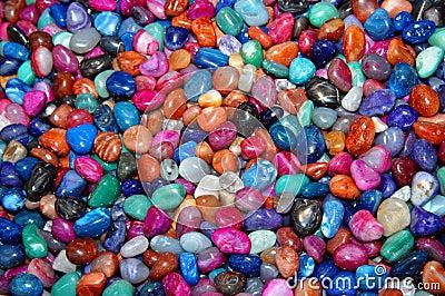 Assorted polished rocks