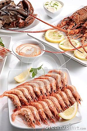 Assorted shellfish