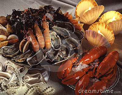 Assorted shellfish