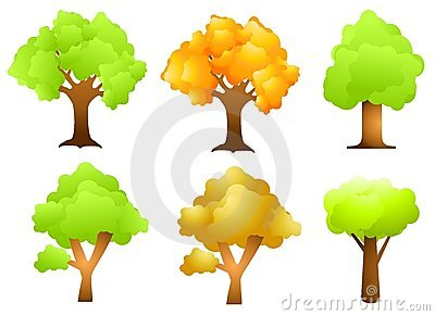 Assorted Trees Clip Art