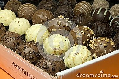 Assorted truffles box