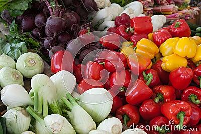 Assorted Vegetable Display