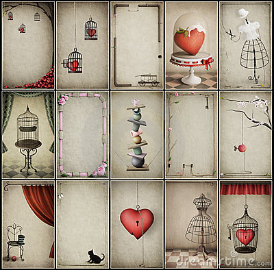 Assorted vintage backgrounds