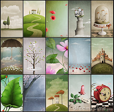 Free Assorted Vintage Backgrounds Royalty Free Stock Photos - 24241598