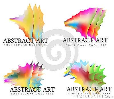 assortiment van abstracte regenboog art logos royalty