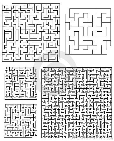 Assortiment van Vierkante Labyrinten