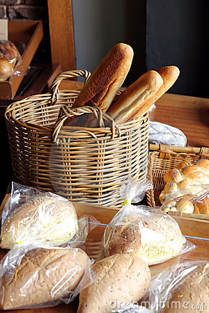 Assortment of Bread at Bakery