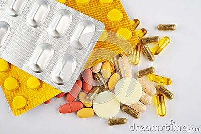 Assortment of Different Pills