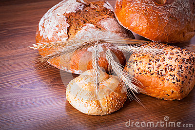 Assortment of fresh bread