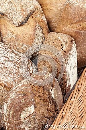 Assortment of fresh crusty bread