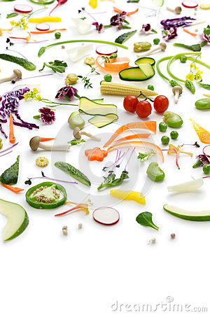 Assortment fresh vegetables