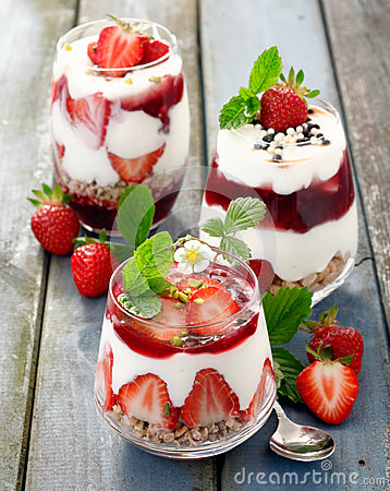 Assortment of gourmet strawberry desserts