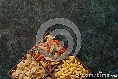 Assortment Italian pasta