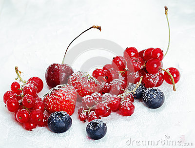 Assortment of luscious ripe berries