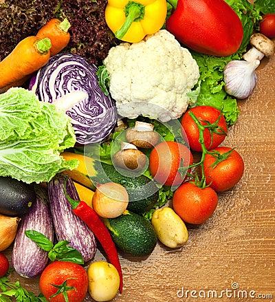 Free Assortment Of Fresh Organic Vegetables Stock Image - 25801871