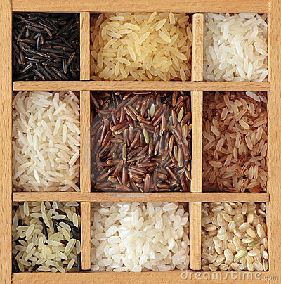 Assortment of rice
