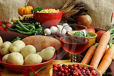 Assortment Of Thanksgiving Foods