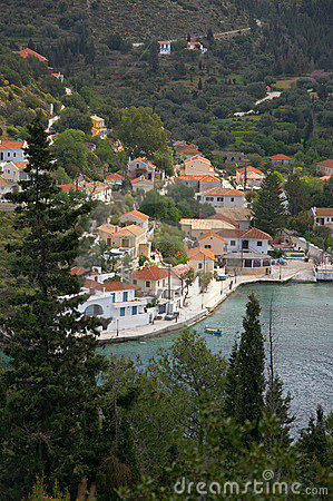 Free Assos Village In Cephalonia Royalty Free Stock Images - 2449289