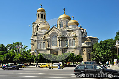 The Assumption Cathedral in Varna Editorial Photography