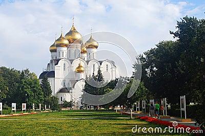 Assumption Church in Yaroslavl, Russia. Editorial Stock Photo