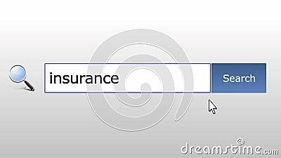 Assurance - question de recherche de navigateur de graphiques, page Web illustration stock