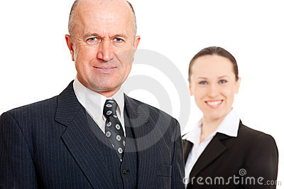 Assured smiley business people
