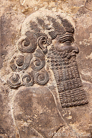 Assyrian art relief