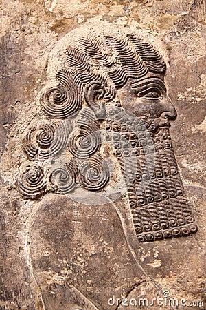 Assyrian art relief