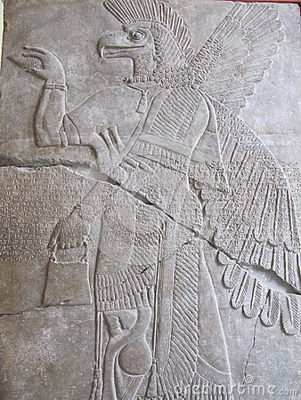 Free Assyrian Relief With Mythological Beast Stock Images - 44503544
