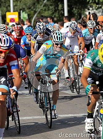 Astana Belgian cyclist Kevin Seeldraeyers Editorial Image