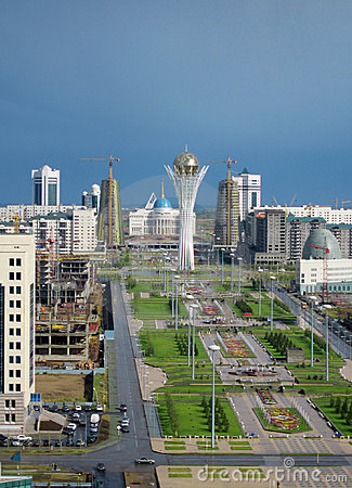 Free Astana City. Panorama Royalty Free Stock Image - 4425806