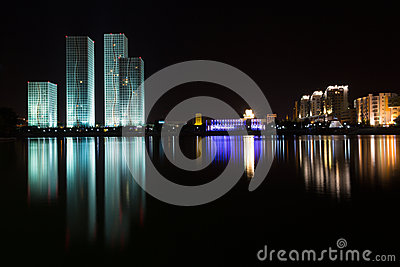 Astana. kazakhstan night panorama