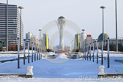 Astana in winter day.