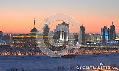 Astana on winter evening