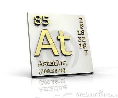 Astatine Form Periodic Table Of Elements Royalty Free ...
