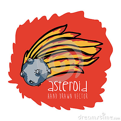 drawn picture of an asteroid - photo #37