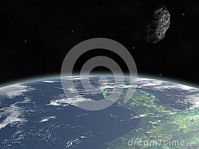 Asteroid on earth