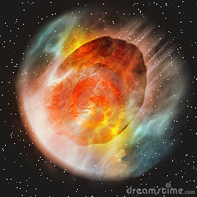 Asteroid Entering Earth Atmosphere