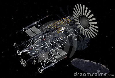Asteroid Mining Equipment Royalty Free Stock Photography ...