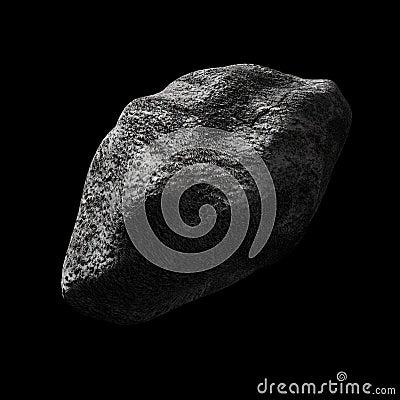 Asteroide no espaço vazio