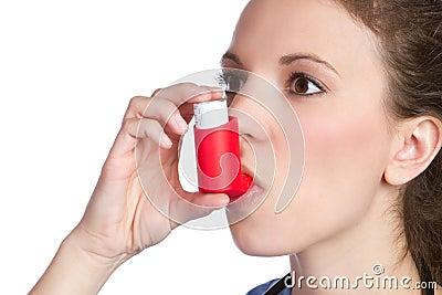 Asthma Inhaler Girl