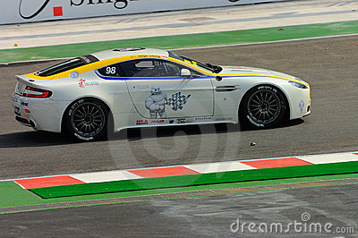 Aston Martin Asia Cup 2008 in Singapore Grand Prix Editorial Stock Photo