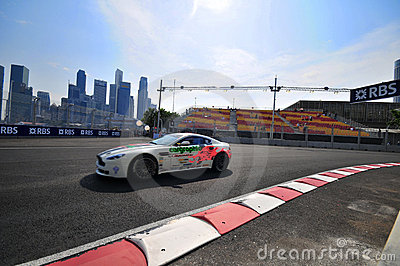 Aston Martin Cup at Singapore Formula One-4 Editorial Stock Image