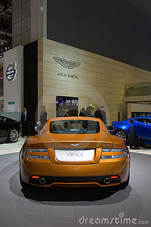 Aston Martin Virage World Premiere - Geneva 2011 Editorial Stock Photo