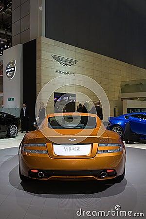 Aston Martin Virage World Premiere - Geneva 2011 Editorial Stock Photo